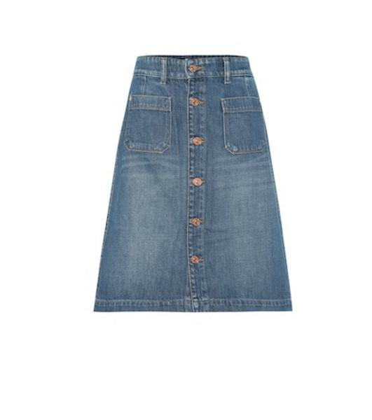 7 For All Mankind Housten denim skirt in blue