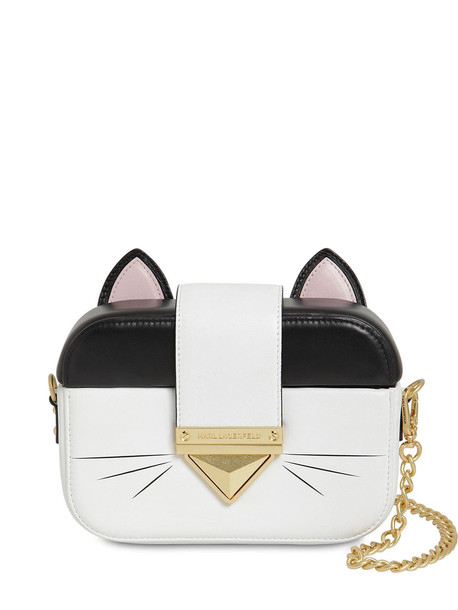KARL LAGERFELD Leather Cat Clutch