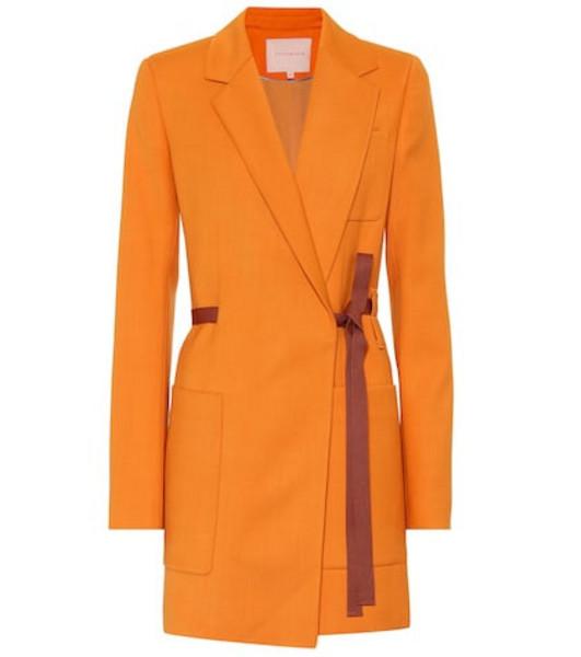 Roksanda Twill coat in orange