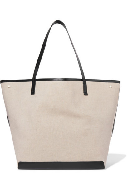 The Row - Park Xl Leather-trimmed Canvas Tote - Neutral