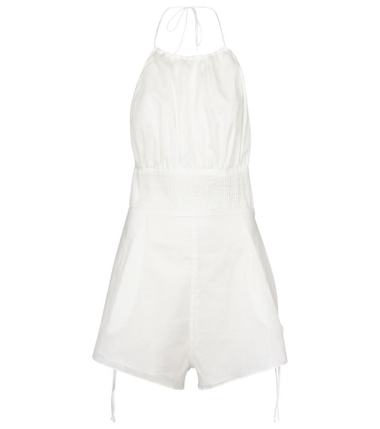 SIR Alina cotton and linen jumpsuit in white