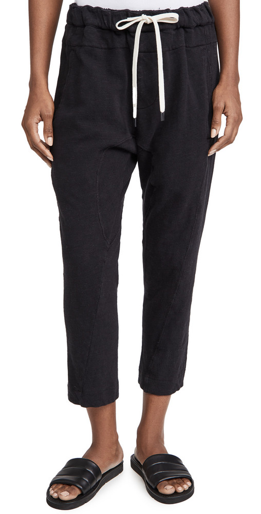 Bassike Slub Rib Relaxed Pants in black