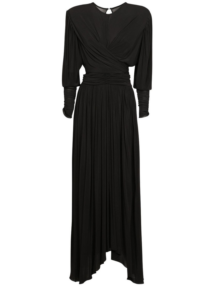 ISABEL MARANT Juciennea Stretch Jersey Midi Dress in black