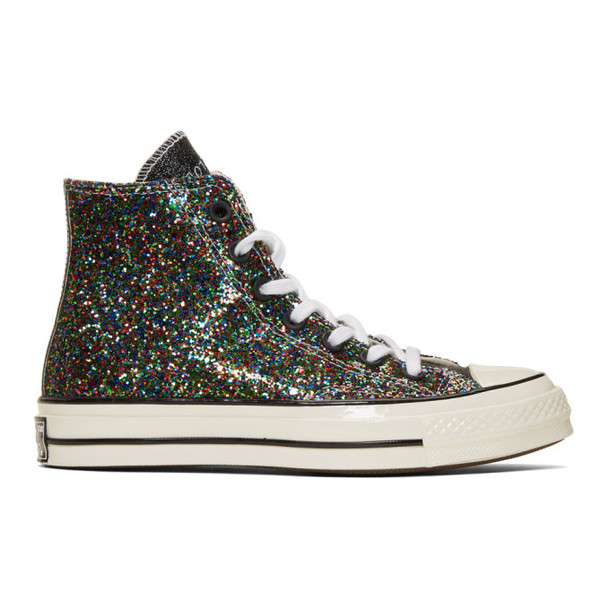 JW Anderson Black Converse Edition Glitter Chuck 70 High Sneakers