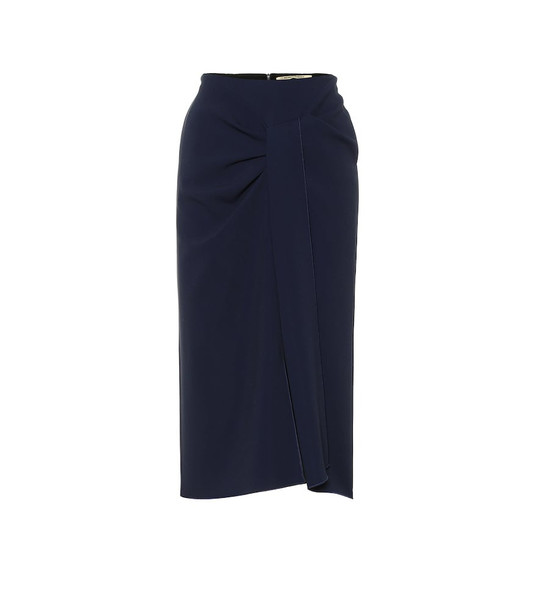 Roland Mouret Aura stretch-crêpe pencil skirt in blue