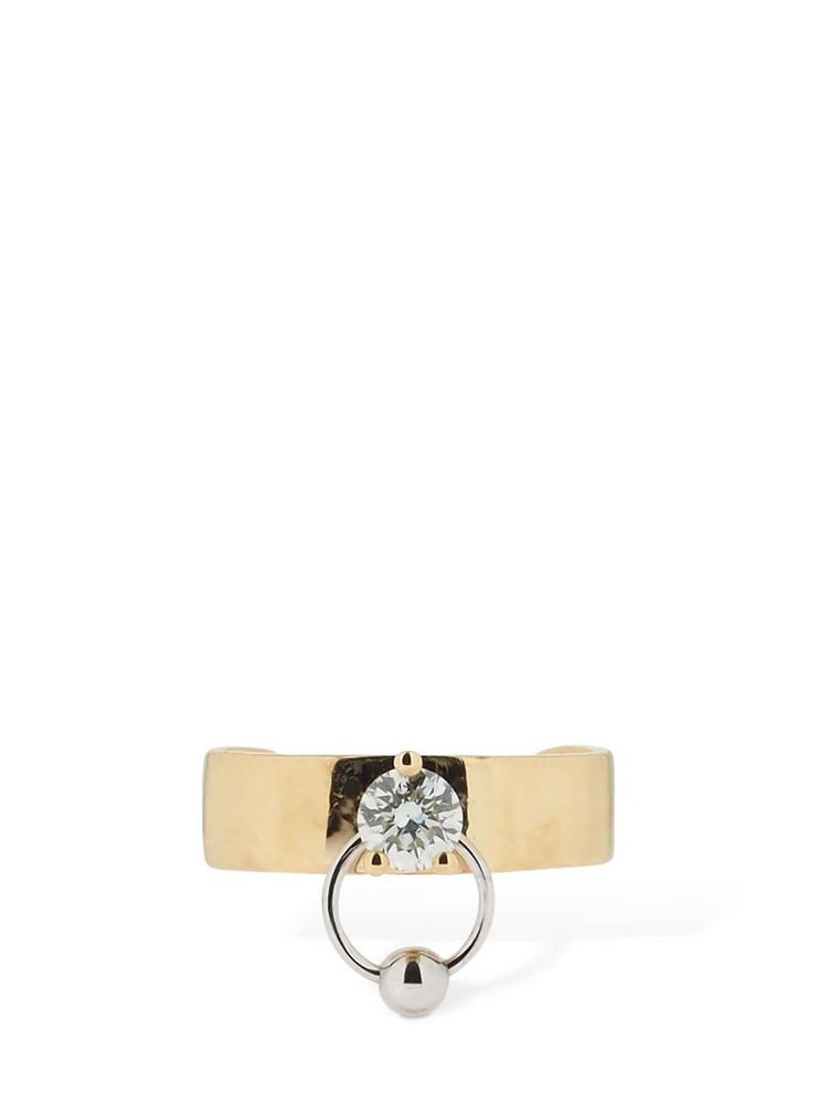 DELFINA DELETTREZ Two-in-one Diamond Drop Mono Ear Cuff in gold