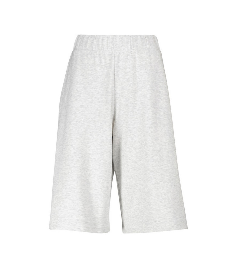 Max Mara Leisure Genero cotton jersey shorts in grey