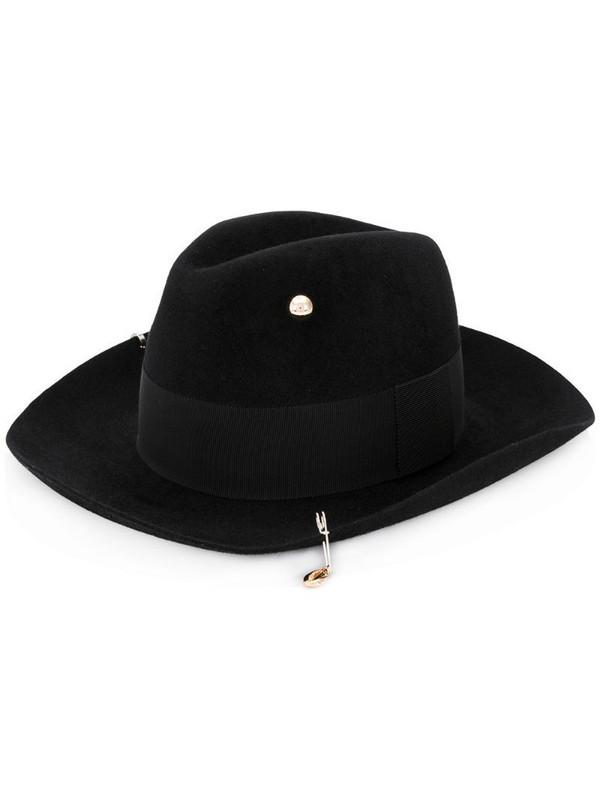 Ruslan Baginskiy drawstring tassel detail hat in black