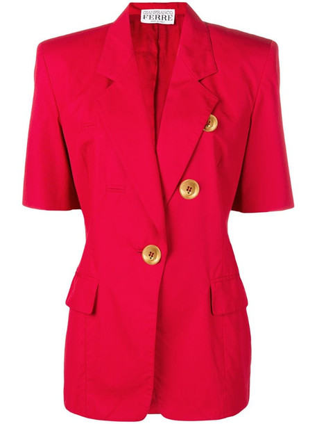 Gianfranco Ferré Pre-Owned 1980's shirt-style jacket in red