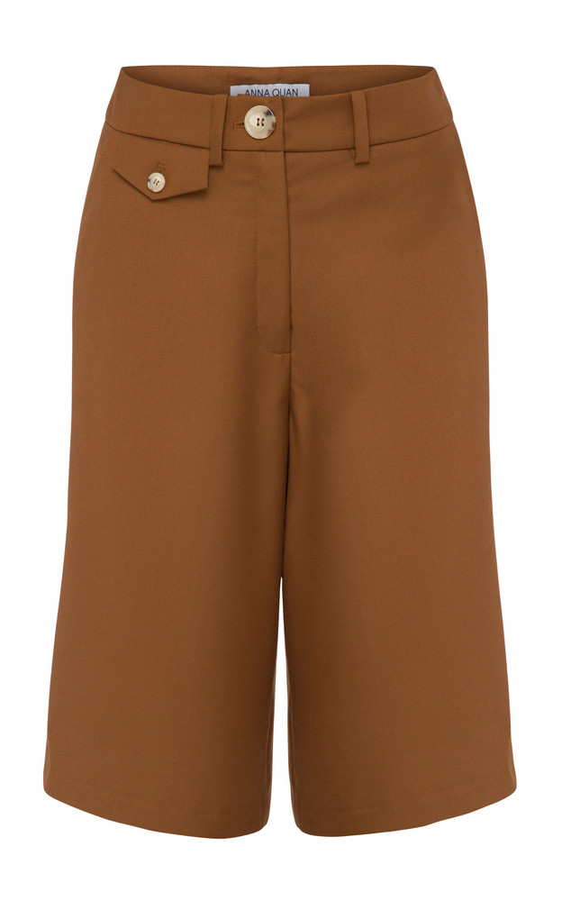 Anna Quan Rae Crepe Shorts Size: 6 in brown