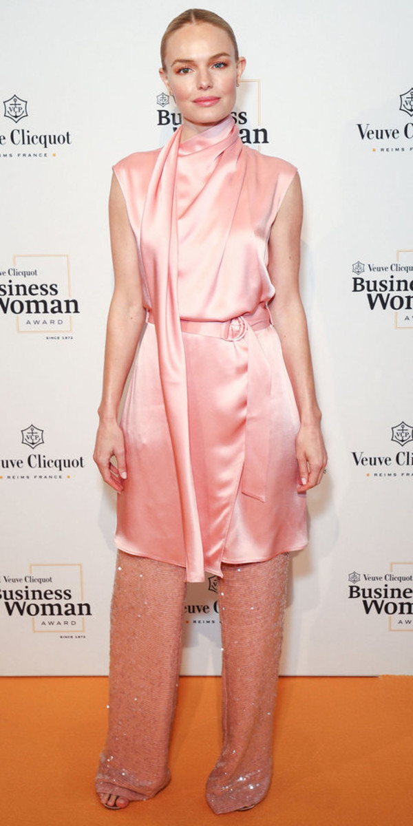 dress kate bosworth celebrity pink pants sequins