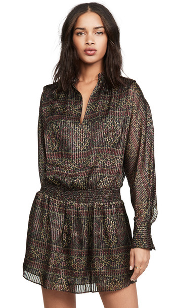 FRAME Paisley Party Dress in multi
