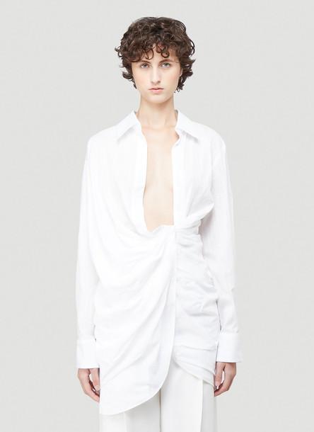 Jacquemus La Robe Bahia Dress in White size FR - 38