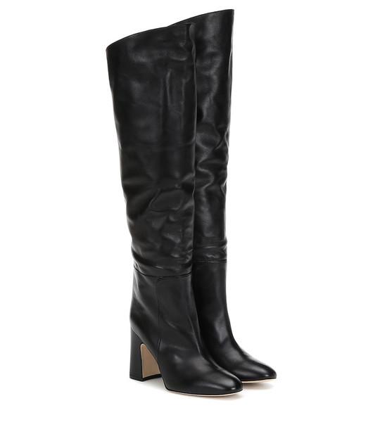 Stuart Weitzman Lucinda leather boots in black