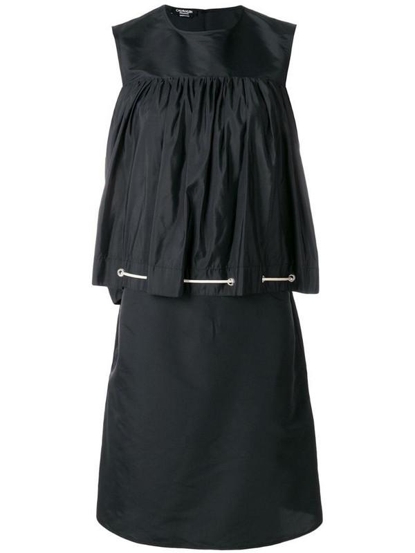Calvin Klein 205W39nyc drawstring smock dress in black