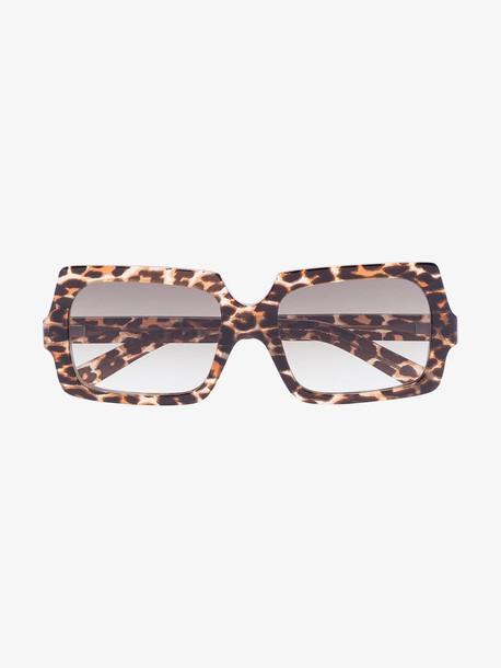 Acne Studios brown George leopard print sunglasses