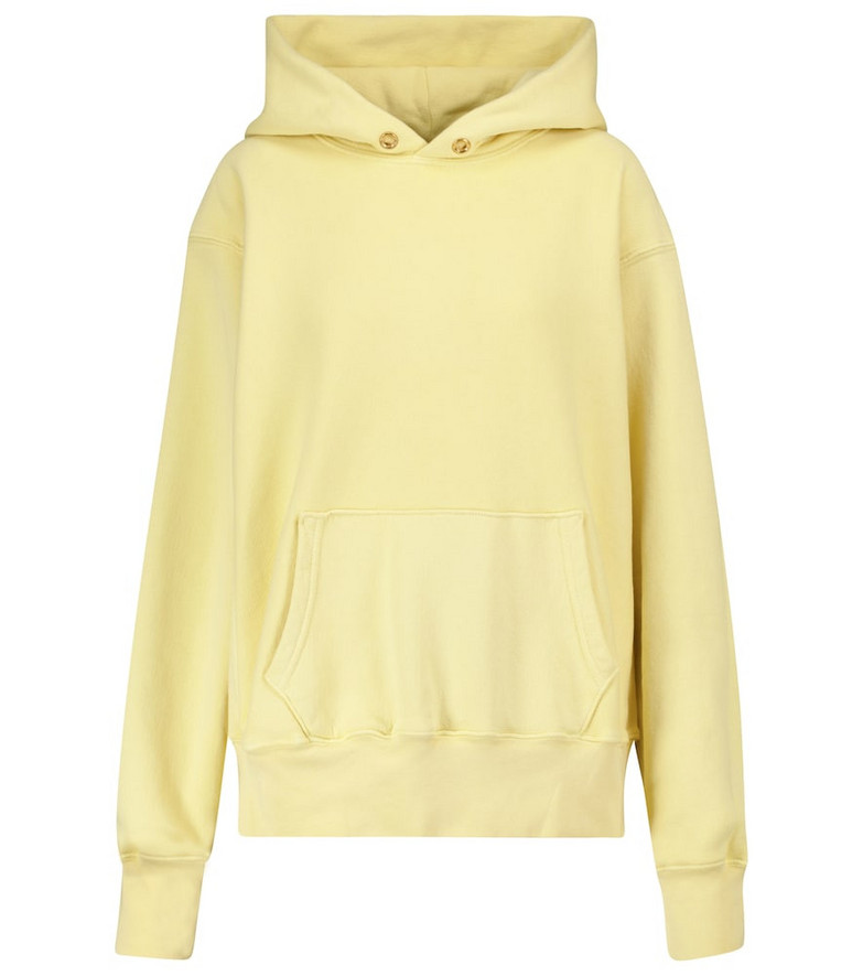 Les Tien Cotton fleece hoodie in yellow