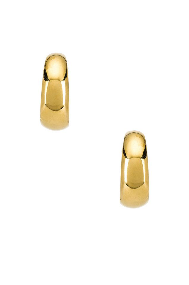 Vanessa Mooney The Luna Hoop Earrings in gold / metallic