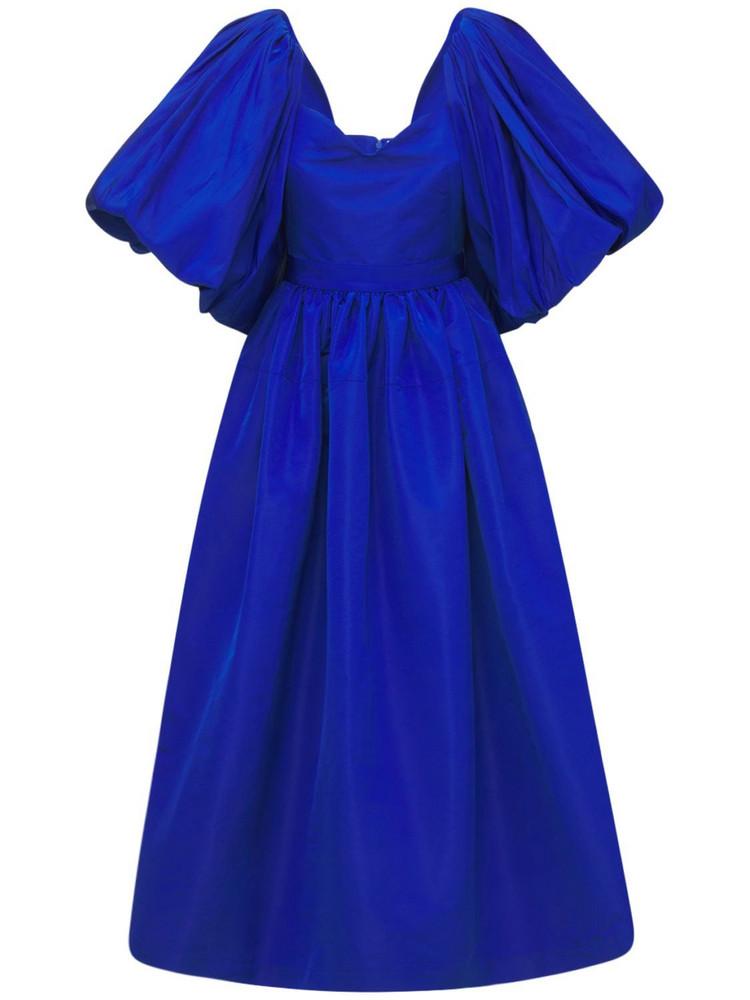 ALEXANDER MCQUEEN Faille Dress in blue