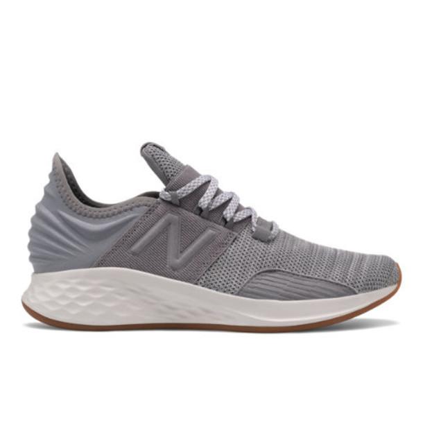 New Balance Fresh Foam Roav Kids Grade School Running Shoes - Grey/White (GEROVKG)