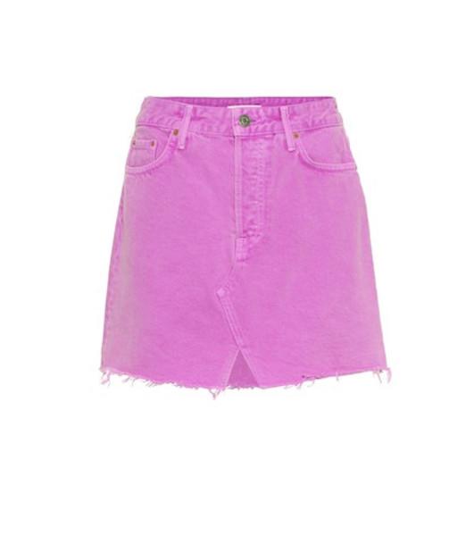 Grlfrnd The Milla denim miniskirt in purple