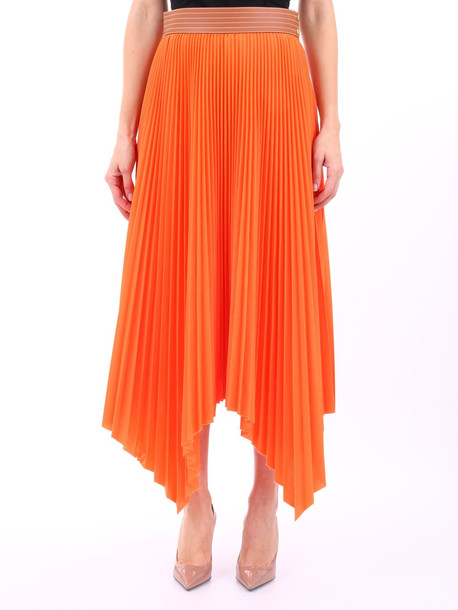Loewe Pleated Skirt Orange