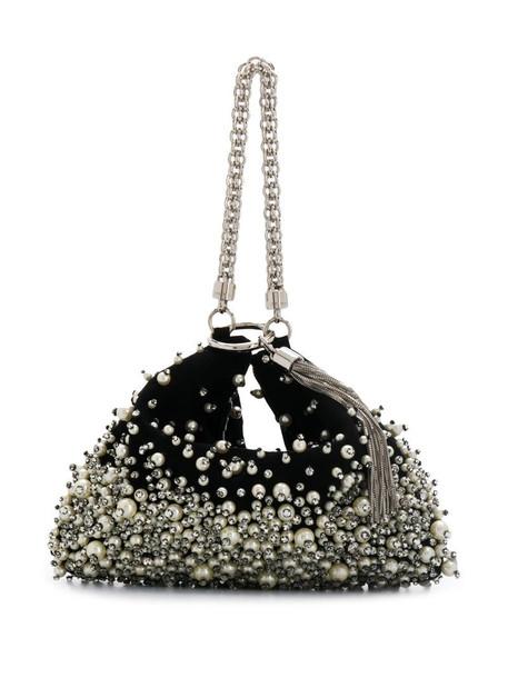 Jimmy Choo Callie embellished clutch in black
