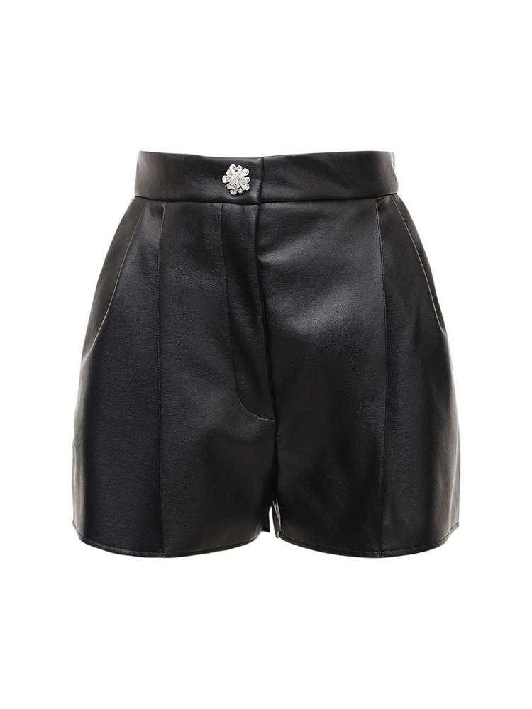 GIUSEPPE DI MORABITO Faux Leather Shorts in black