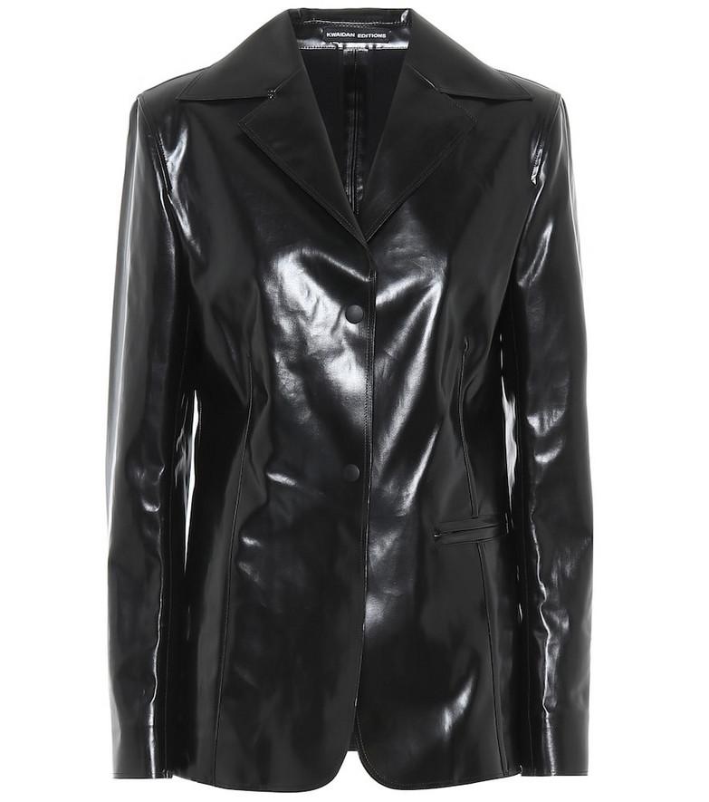Kwaidan Editions Faux leather jacket in black