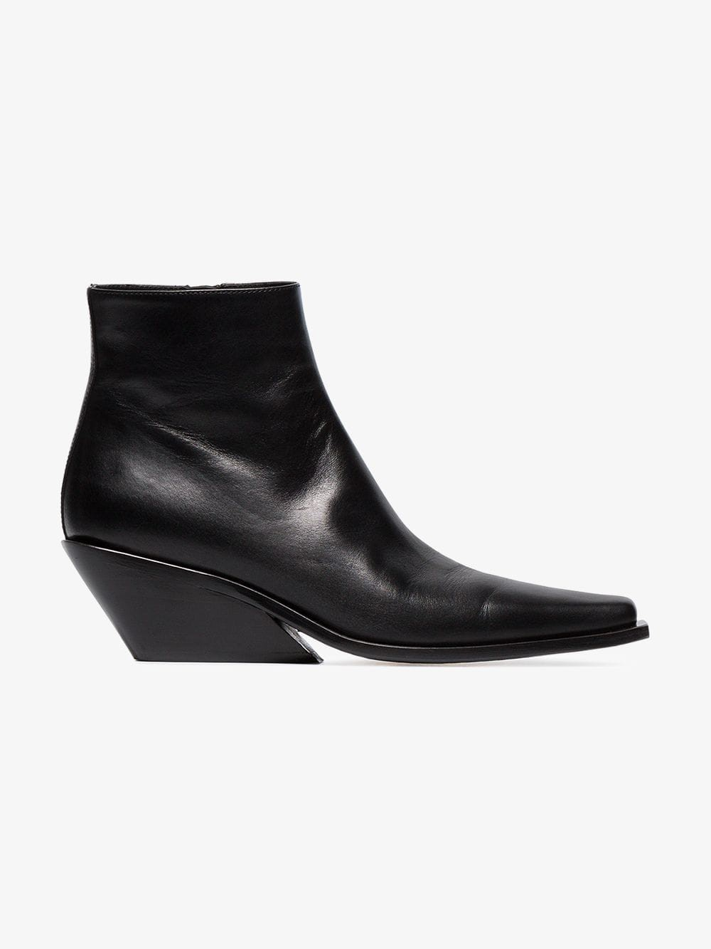 Ann Demeulemeester 50 Leather Ankle Boots in black