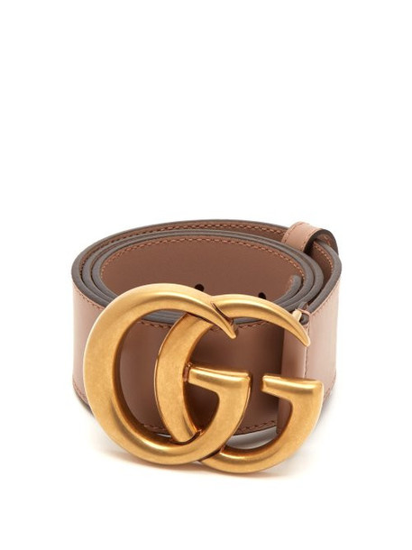 Gucci - Gg Logo Leather Belt - Womens - Pink
