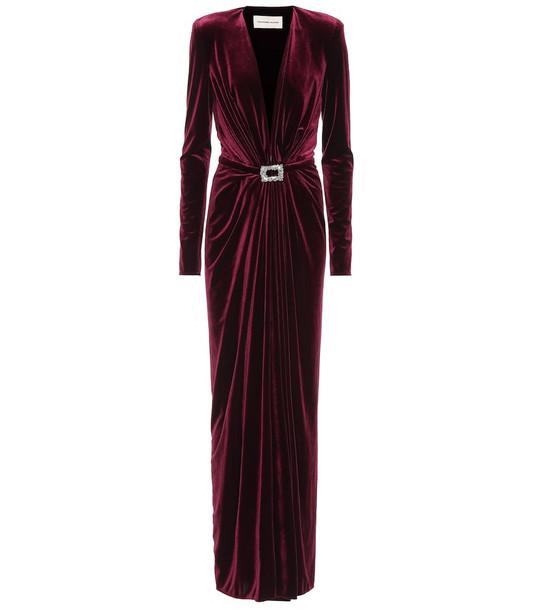 Alexandre Vauthier Velvet gown in red