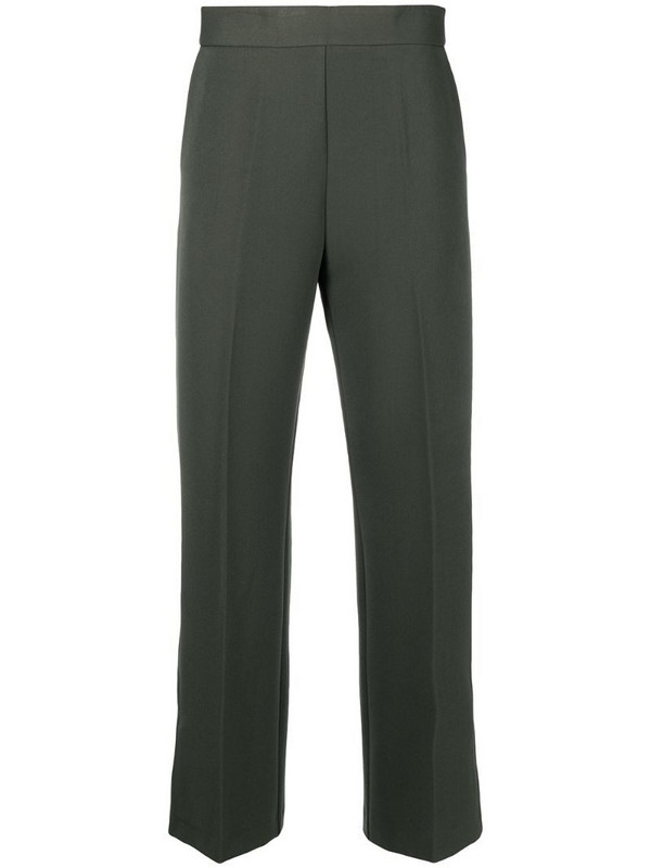 Altea cropped tailored trousers in green