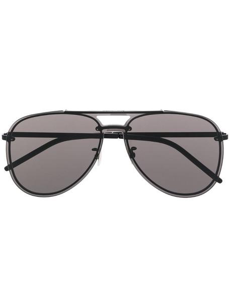 Saint Laurent Eyewear aviator-frame tinted sunglasses in black