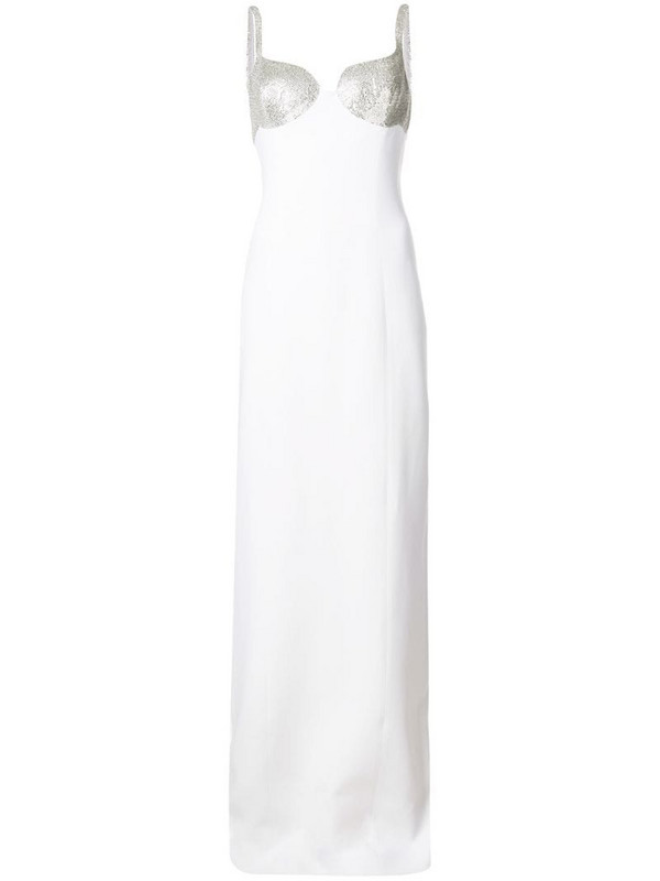 Michael Kors Collection stud embellished dress in white