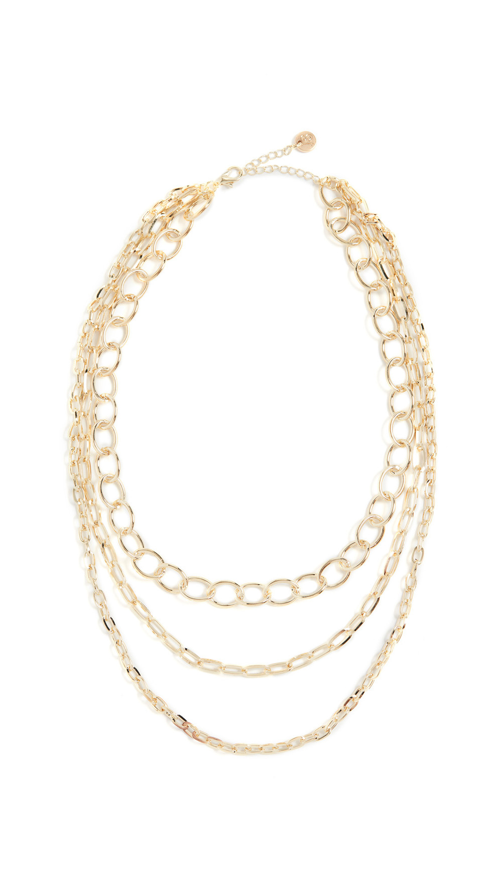 Jules Smith Layered Chain Necklace in gold / yellow