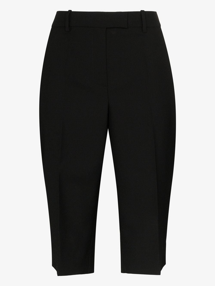 Givenchy straight leg wool shorts in black