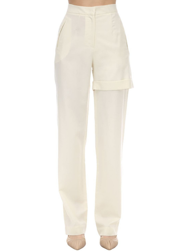 MATÉRIEL Wool Blend Pants in ivory
