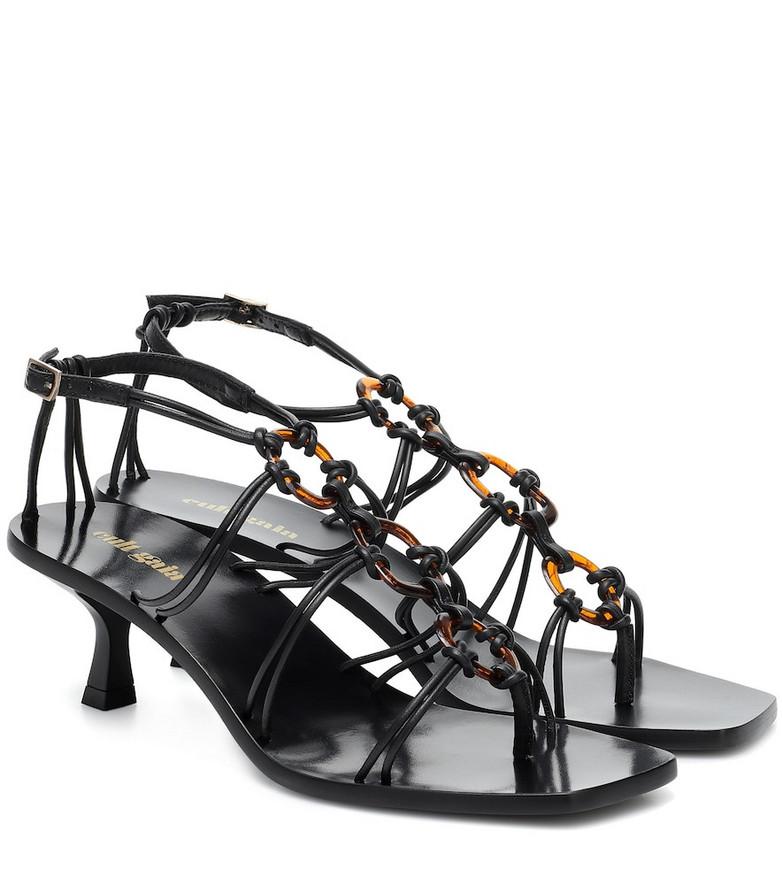 Cult Gaia Ziba leather sandals in black