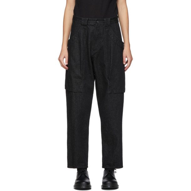 Yohji Yamamoto Black Gore Big Pocket Jeans