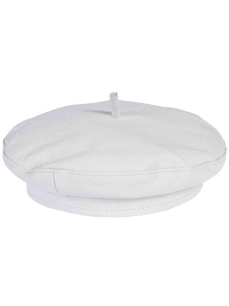 Ruslan Baginskiy Leather Hat in cream