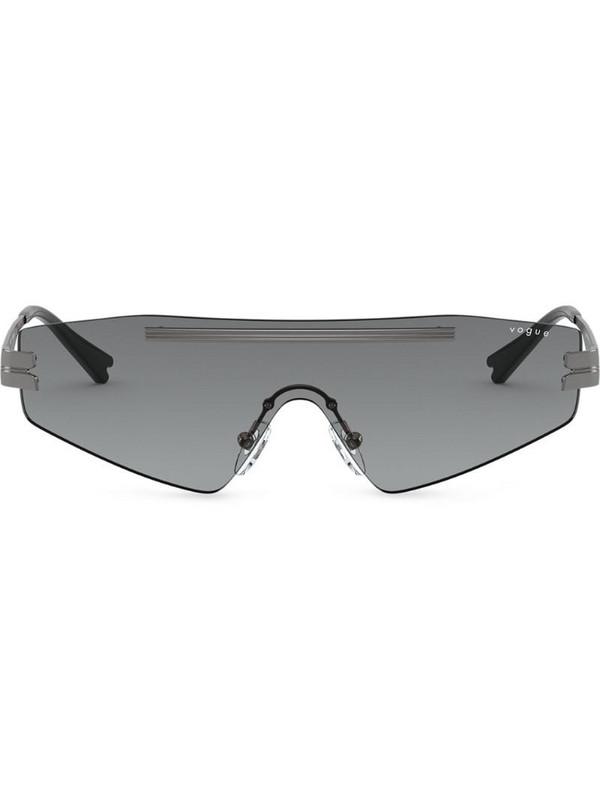 Vogue Eyewear x Millie Bobby Brown visor sunglasses in grey