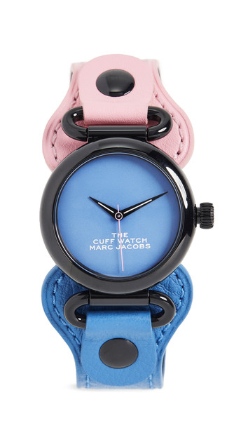 The Marc Jacobs The Cuff Watch 36mm in blue / pink