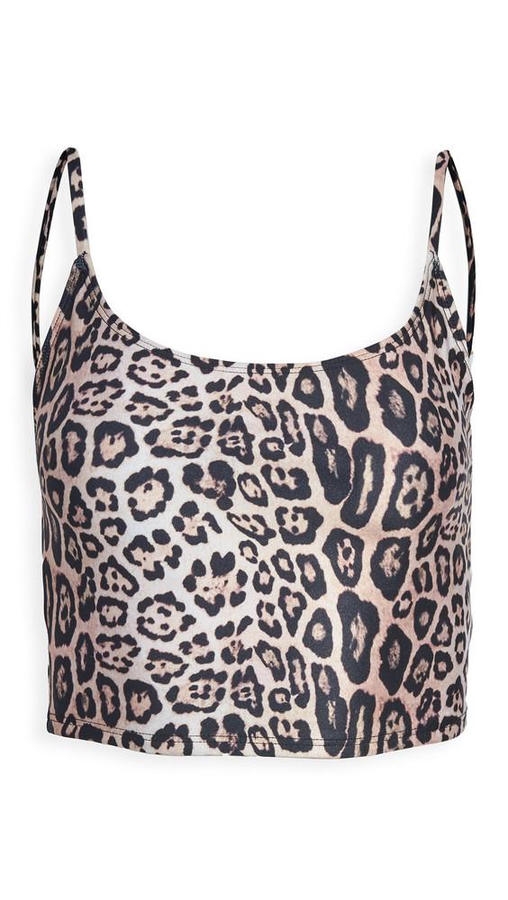 Onzie Cami Belle Crop Top in leopard