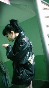 jacket,punk,leather jacket,alternative,cigarette