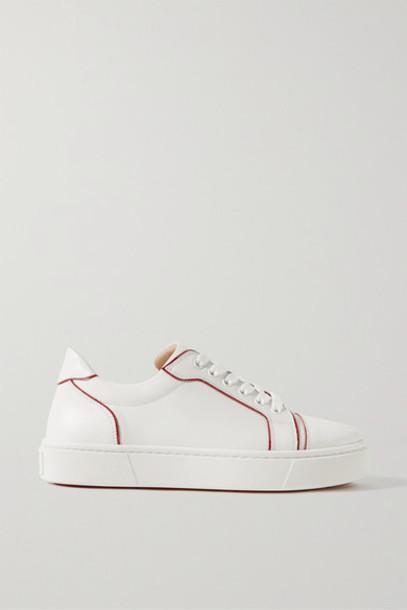 Christian Louboutin - Vieirissima Two-tone Leather Sneakers - White