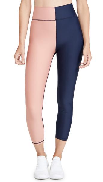 The Upside Harlequin Dance Midi Pants in navy / multi