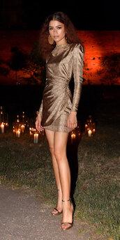 dress,satin,mini dress,brown,zendaya,celebrity