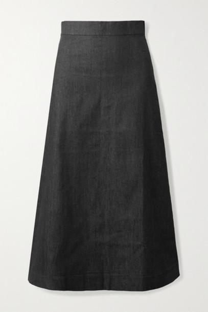 ARoss Girl x Soler - Alma Denim Midi Skirt - Black