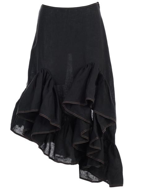 Marques'Almeida Skirt W/flounce in black